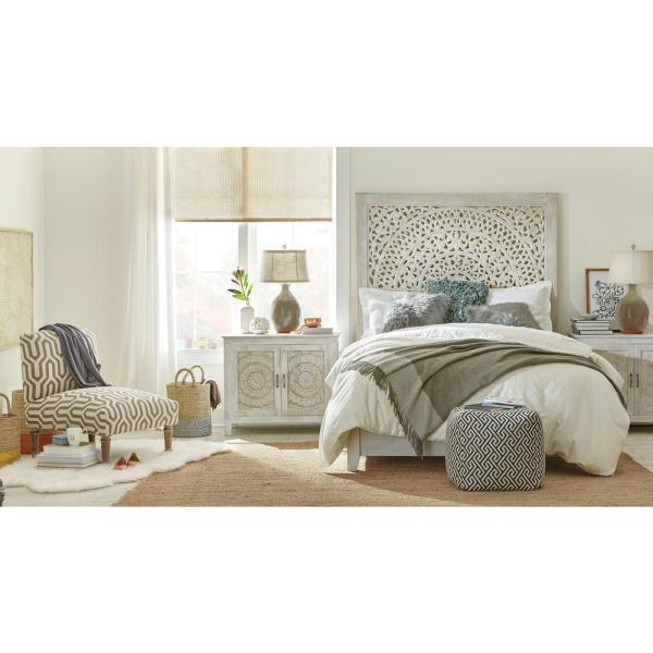 Home Decorators Collection Chennai Bedroom Collection in White Wash