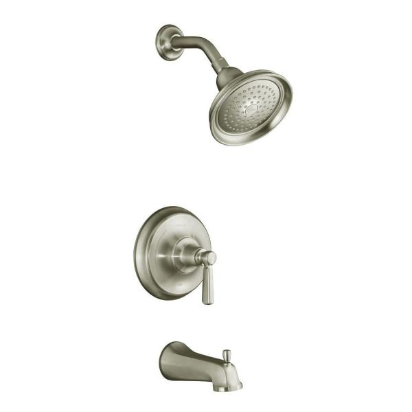 kohler bancroft 1spray tub and shower faucet trim in vibrant brushed the home depot