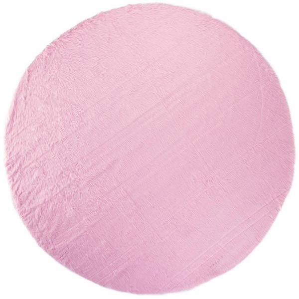 Home Decorators Collection Faux Sheepskin Pink 8 Ft. Round Area Rug 5248270140    The Home Depot