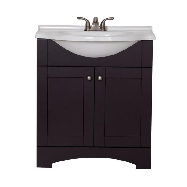W Vanity with AB Engineered Composite Vanity Top in Espresso DMSD30P2COM E   The Home Depot. Glacier Bay Del Mar 30 in  W Vanity with AB Engineered Composite