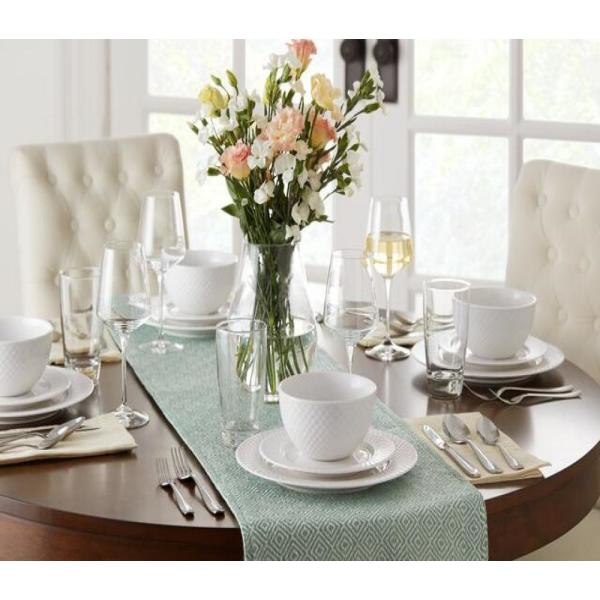 Home Decorators Collection Home Decorators Collection White Dinnerware Sets
