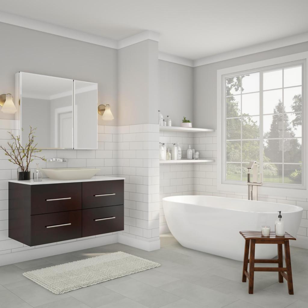 Clean Modern Bathroom - Bathroom - The Home Depot