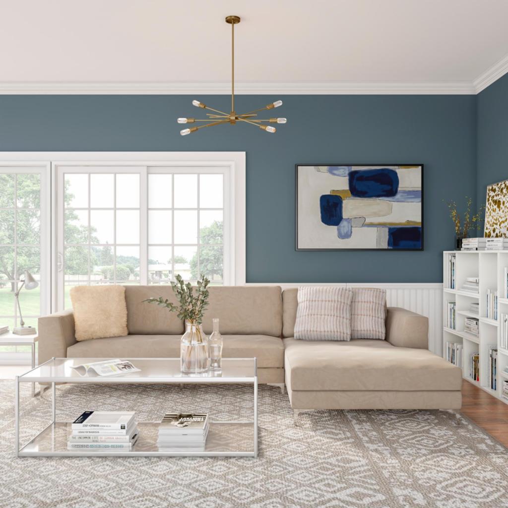 Modern Coastal Living Room - Shop by Room - The Home Depot