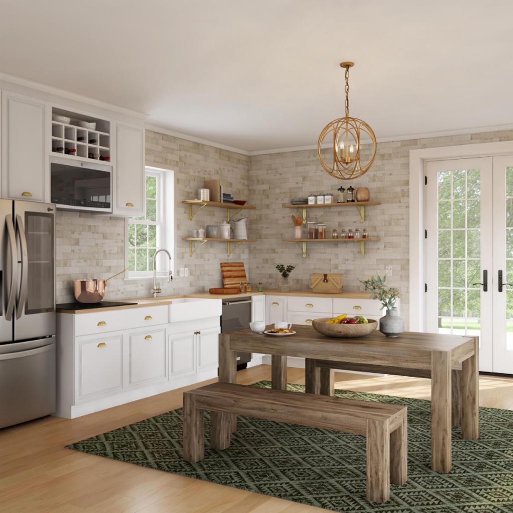 Farmhouse Eat-In Kitchen – Kitchen