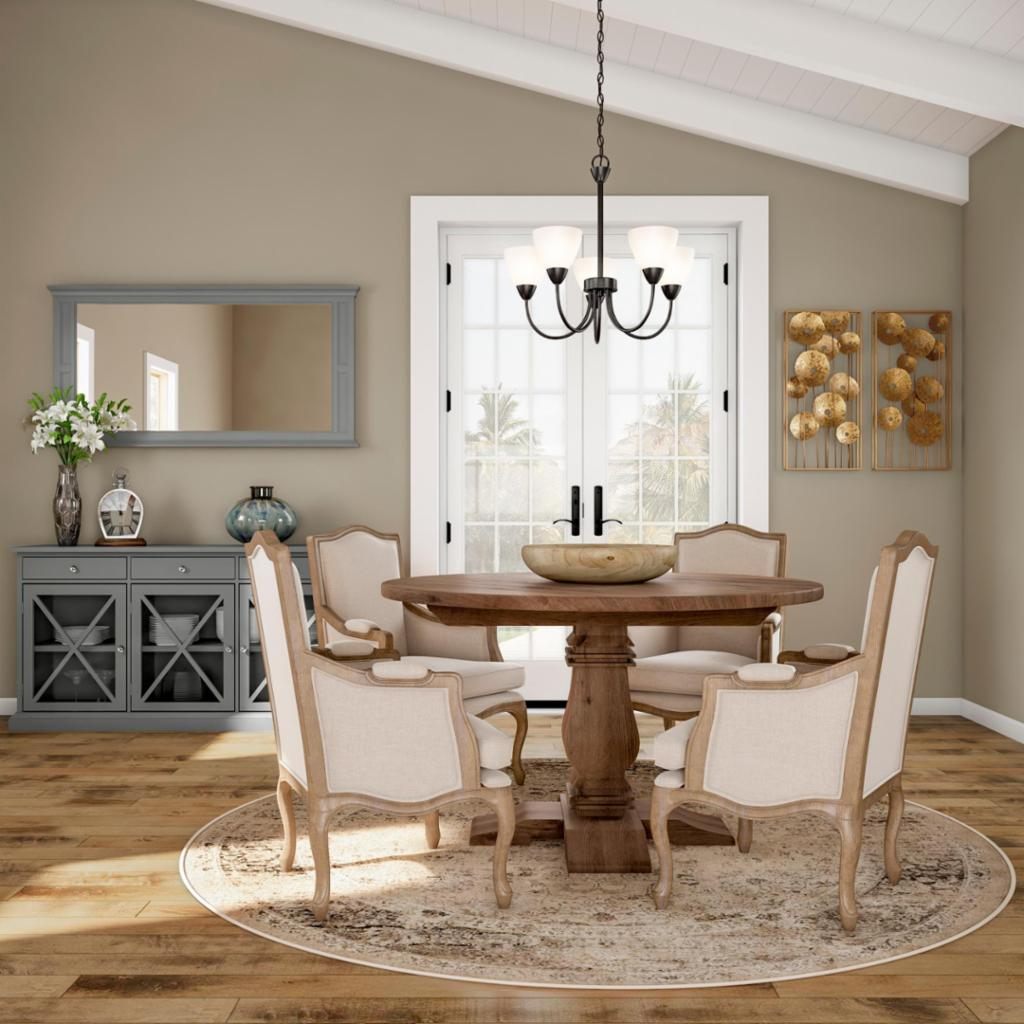 Rustic Cottage Dining Room The Home Depot