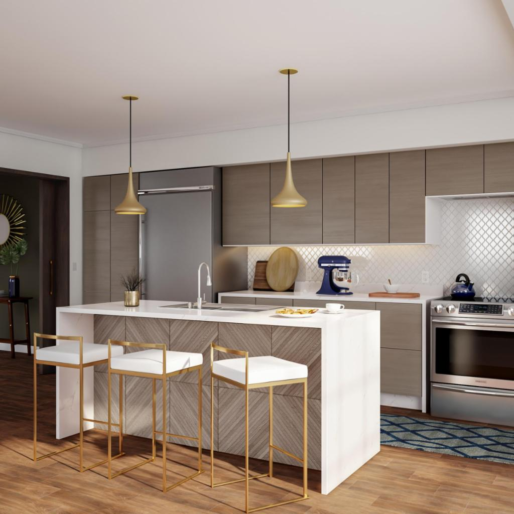 Home Depot Modern Kitchen Cabinets Ultra Luxe Modern Kitchen   Home   The Home Depot