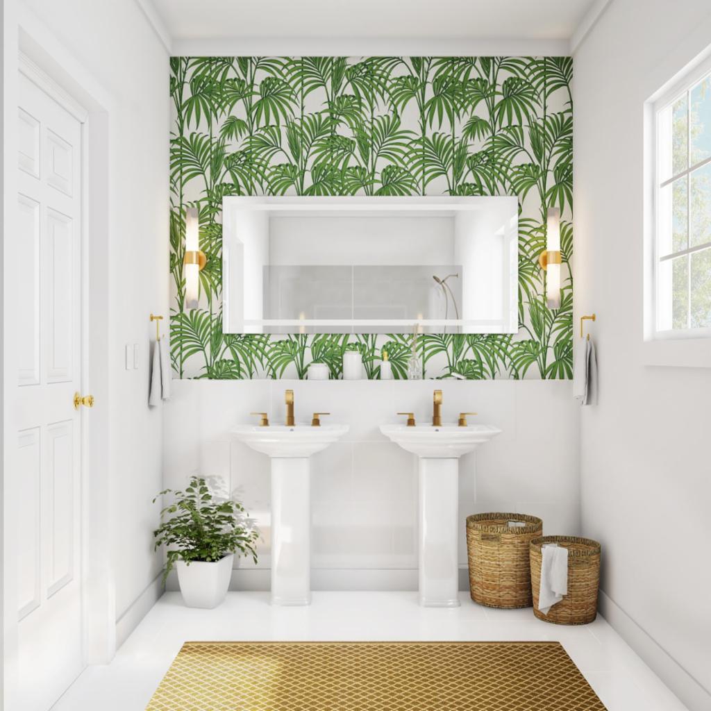 Botanical Oasis Bathroom Home The Home Depot