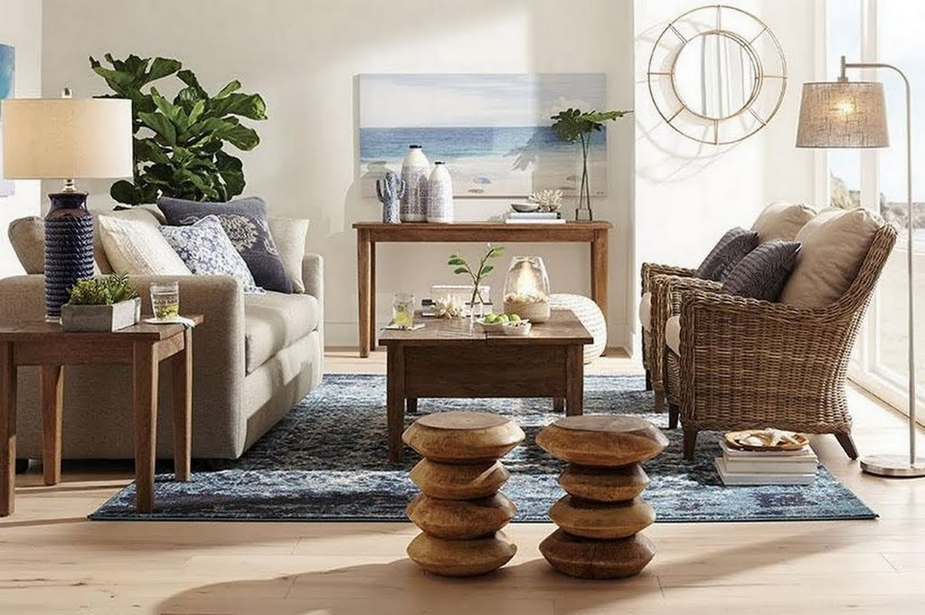 Global Coastal Living Room The Home Depot