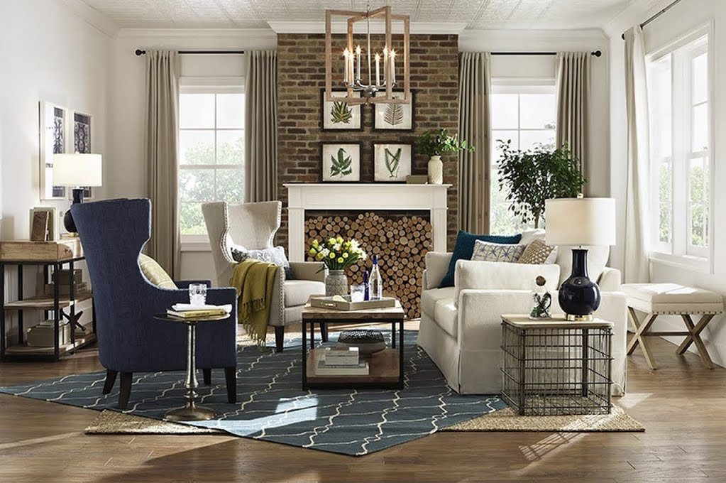 American Farmhouse Living Living Room The Home Depot