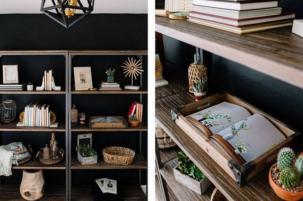 styling floor to ceiling bookshelves home office the home depot - Bookshelves Home Depot
