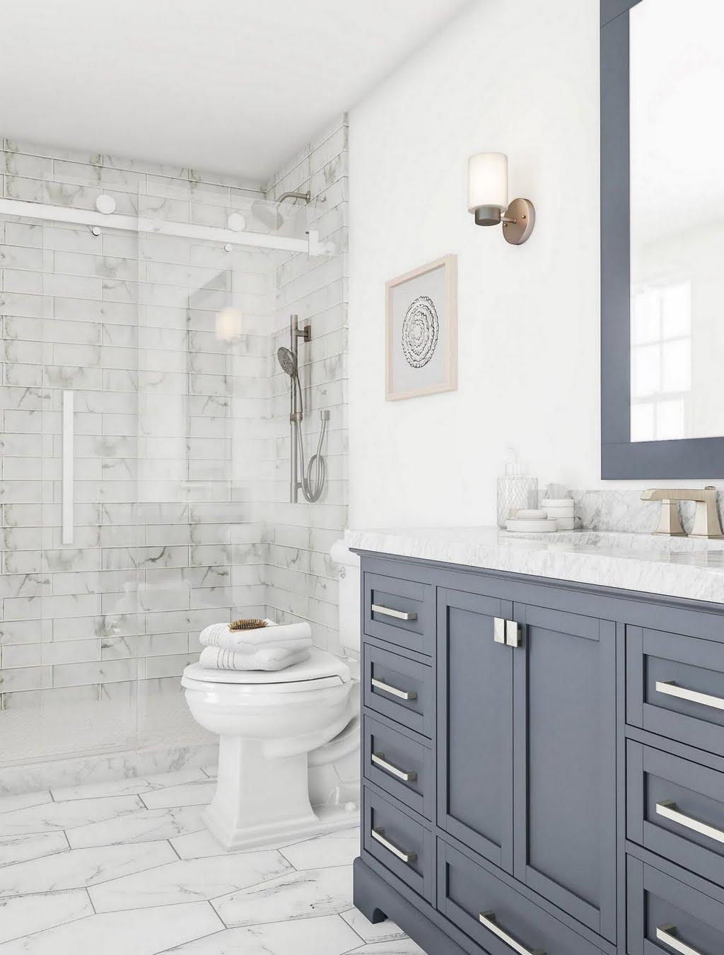 Classic Bathroom in Shades of Gray – Bathroom – The Home Depot
