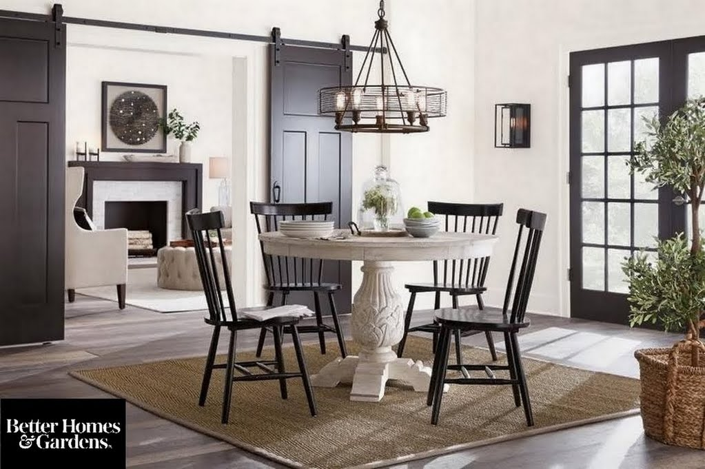 Global Farmhouse Dining Room Dining Room The Home Depot