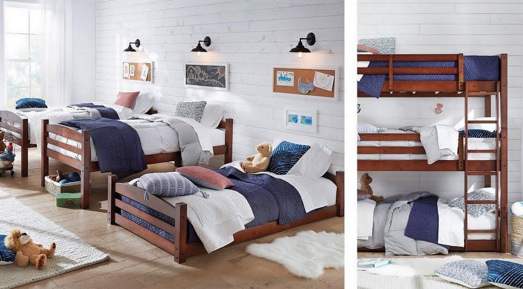 boys bedroom ideas - farmhouse bunkbeds