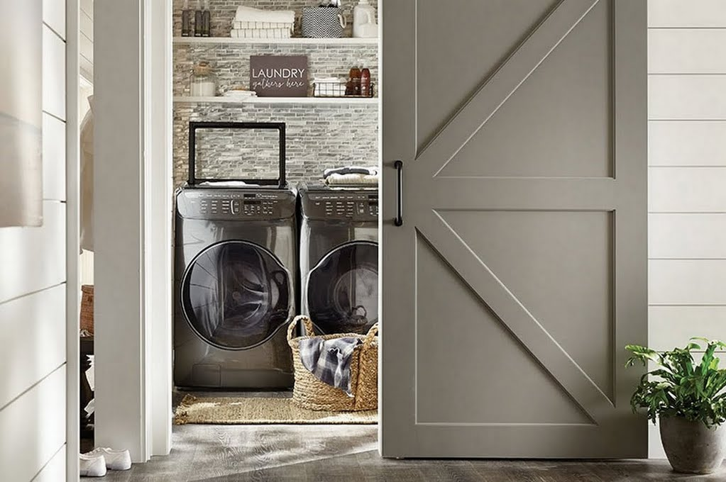 Flexible Farmhouse Laundry Laundry Room The Home Depot