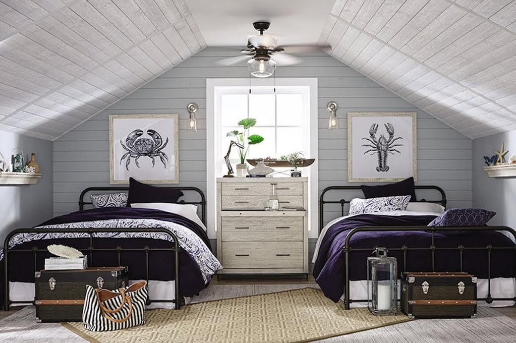 Breezy Beach House Guest Bedroom The Home Depot