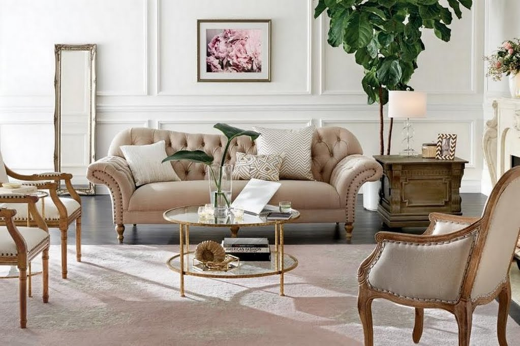 Vintage Glam Living Room – Living Room – The Home Depot