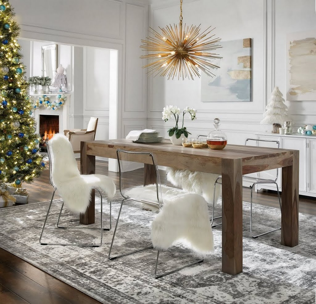 Glamorous Dining Rooms: Holiday Glam Dining Room