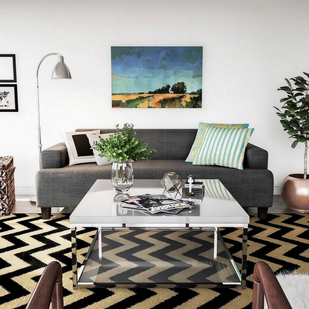 Modern Chevron Living Room Living Room The Home Depot Jpg 1024x1024 Chevron  Turquoise And Black Living