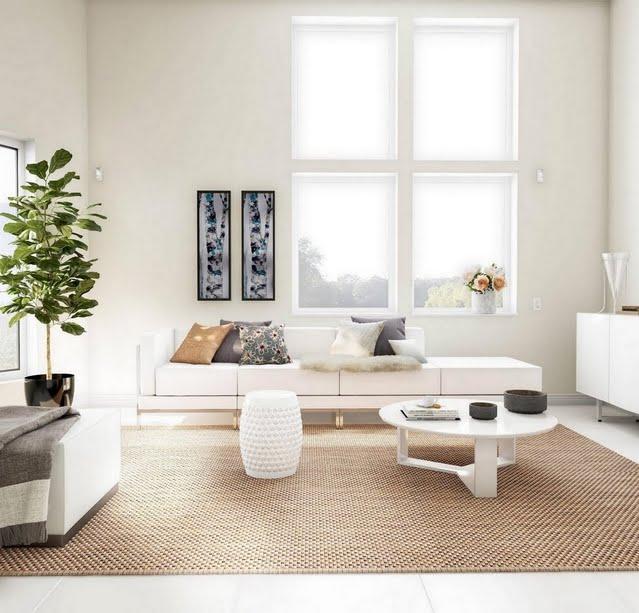 Minimalist White Living Room