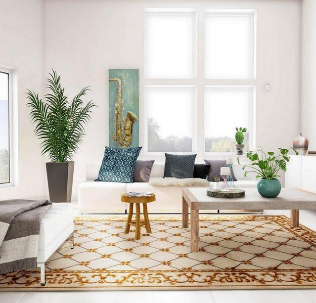 Nouveau White Living Room
