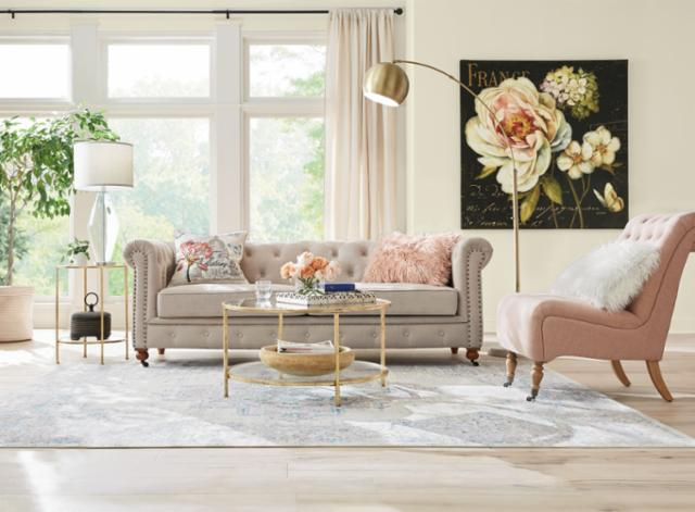Classic Glamour Living Room