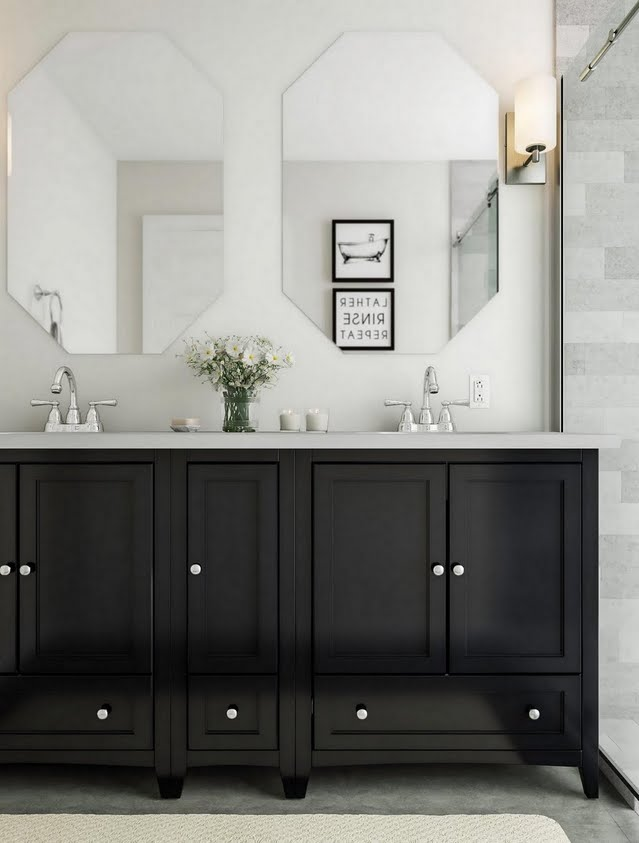 Modern Black Bathroom Vanity