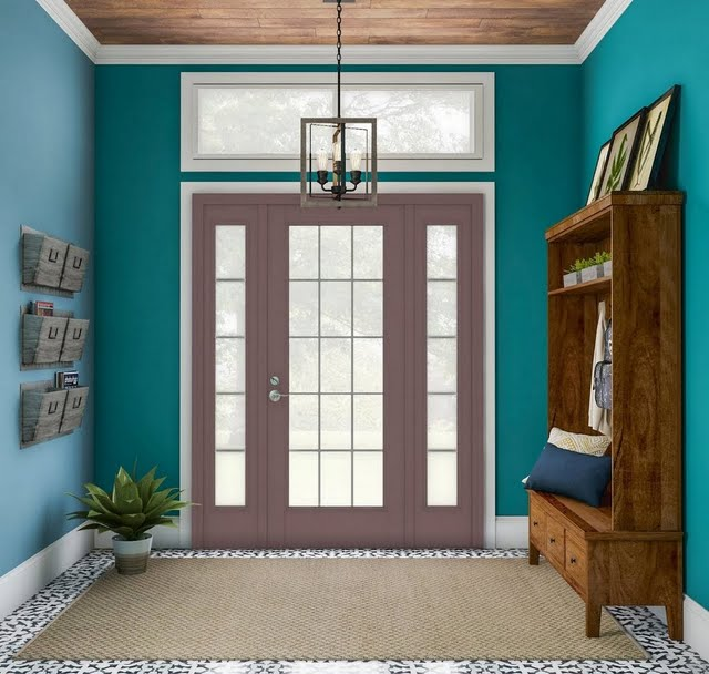 Updated Entryway with Rustic Touches