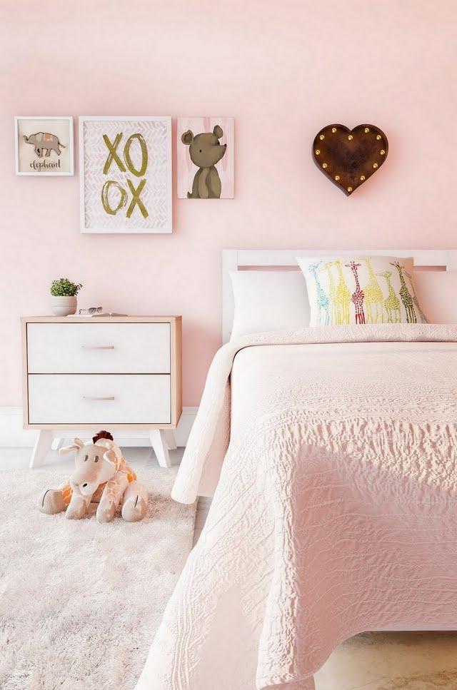 All-Pink Modern Bedroom