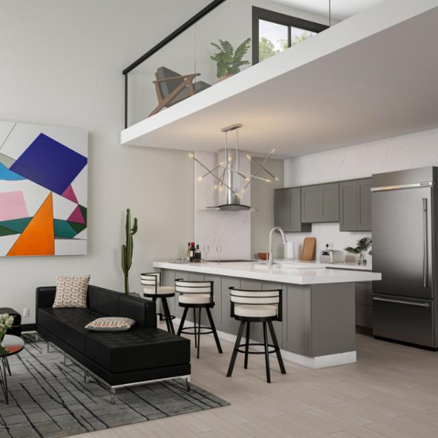 Mid-Century Twist Living Room