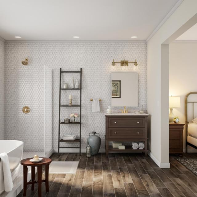 Serene And Spacious Bathroom