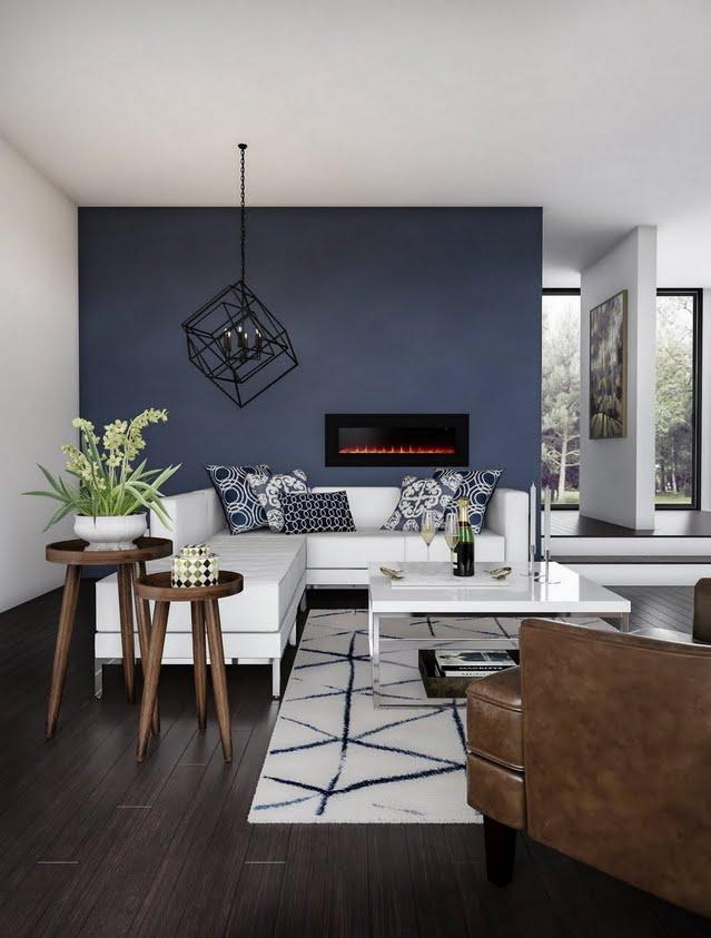 High-Contrast Classic Living Room