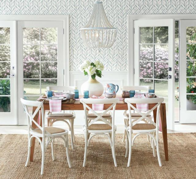 Stylish Springtime Dining Room