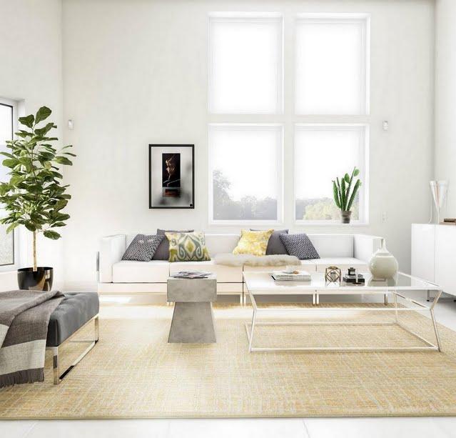 Modern Open-Frame Living Room