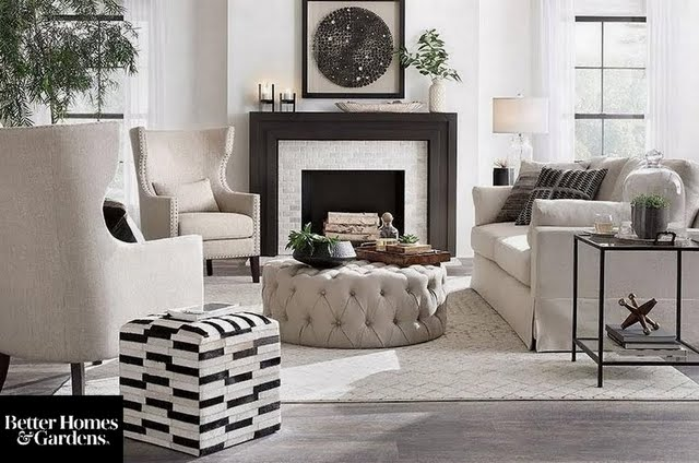 Global Farmhouse Living Room
