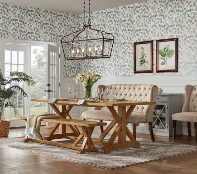 Earthy Cottage Dining Room