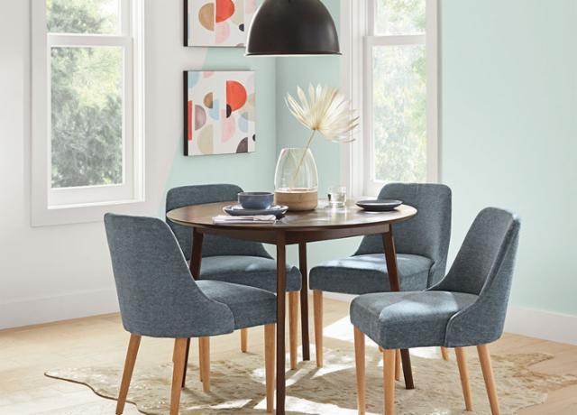Bold Mid-Century Dining Room