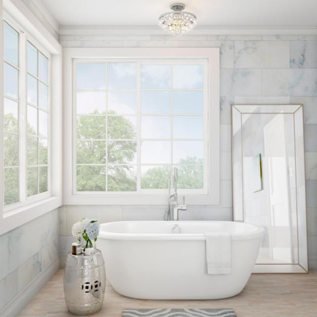 Artful Airy Bathroom