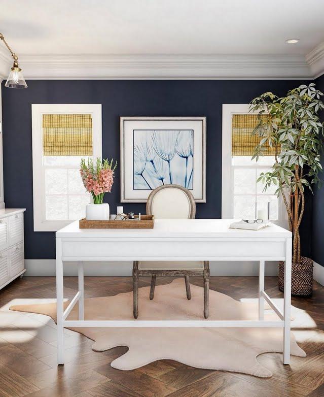 Elegant High-Contrast Home Office