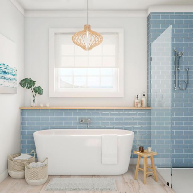 Explore Coastal Bathroom Styles For, Coastal Bathroom Tile Ideas