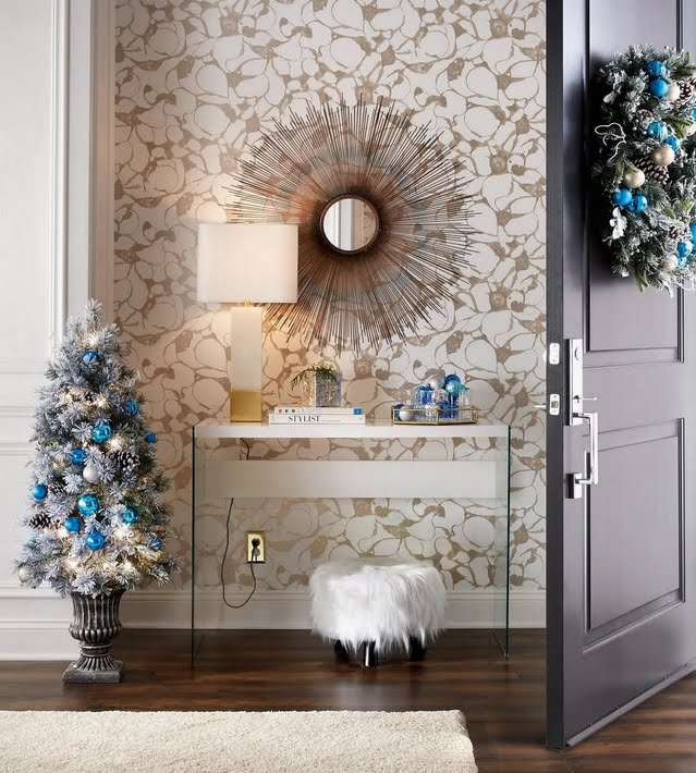 Holiday Glam Entryway