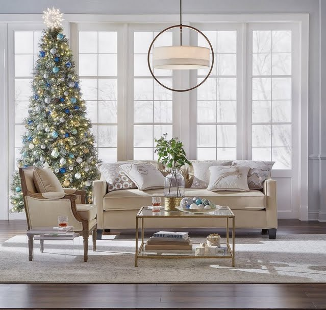 Holiday Glam Living Room