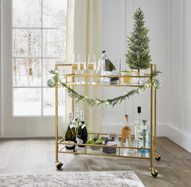 Festive Flair Bar Cart