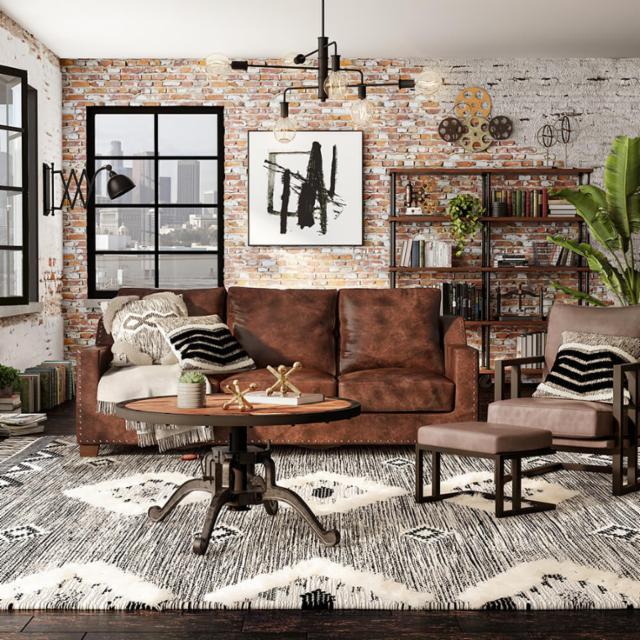 Industrial Atmosphere Living Room