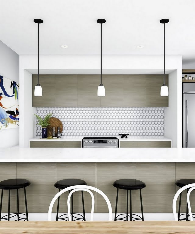 White Mosaic Kitchen