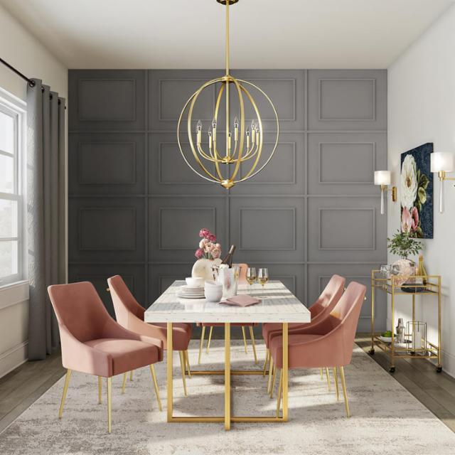Gilded Glam Dining Room