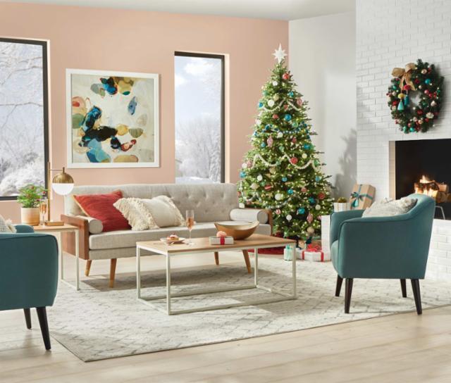 Whimsical Winter Living Room