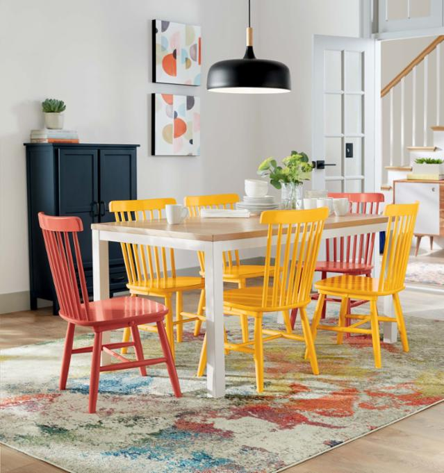 Colorful Comfort Dining Room