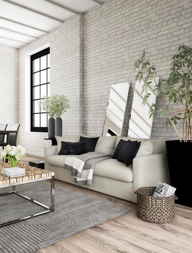 Classic Ash Gray Living Room