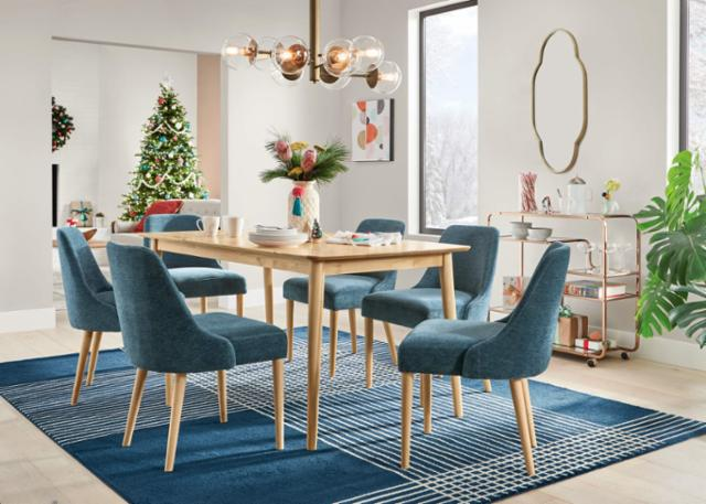 Whimsical Winter Dining Room