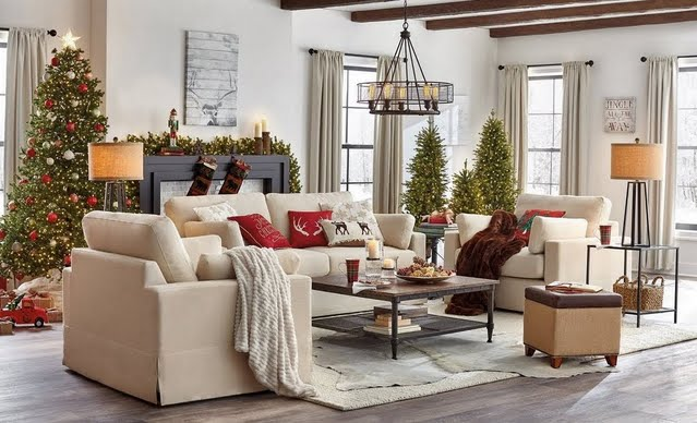 Holiday Farmhouse Living Room
